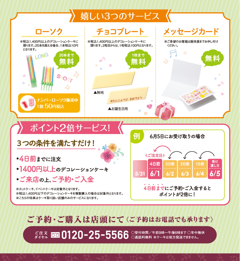 BirthdayCake バースデーケーキ & AnniversaryCake アニバーサリーケーキ ポイント2倍サービス!
