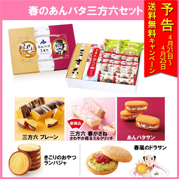 【送料無料】春のあんバタ三方六セット 19個入